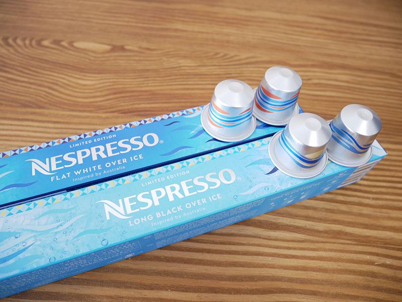 ネスプレッソのアイスコーヒーカプセル「フラットホワイト・オーバー・アイス」「ロングブラック・オーバー・アイス」