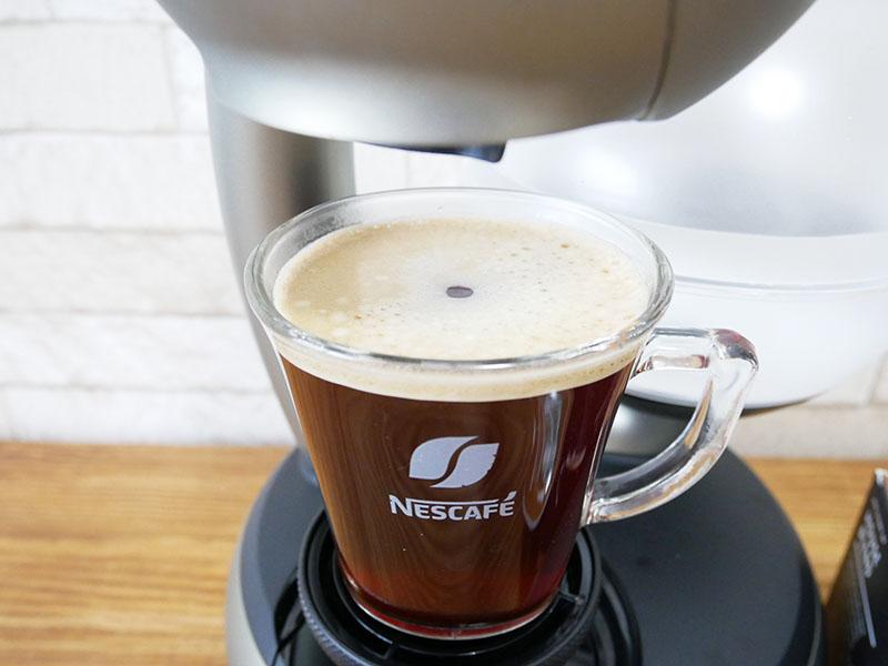 【レビュー】ドルチェグスト「エスペルタ」の使い方:コーヒーの完成