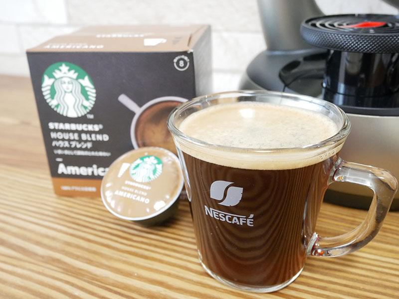 ドルチェグスト「エスペルタ」で淹れたコーヒー