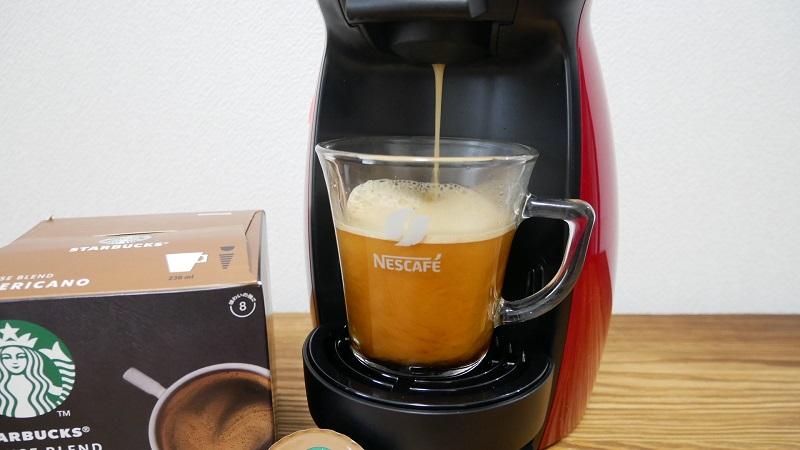 ドルチェグスト「ジェニオ アイ」の口コミレビュー「使い方」コーヒー抽出の写真