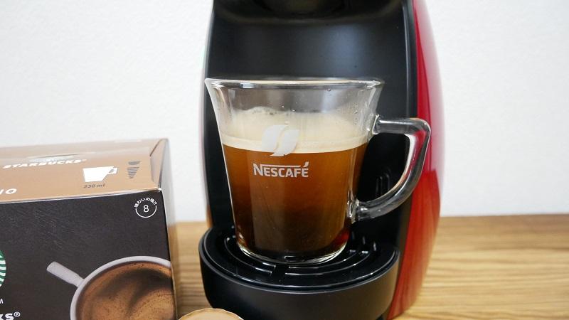 ドルチェグスト「ジェニオ アイ」の口コミレビュー「使い方」コーヒー抽出がストップした写真
