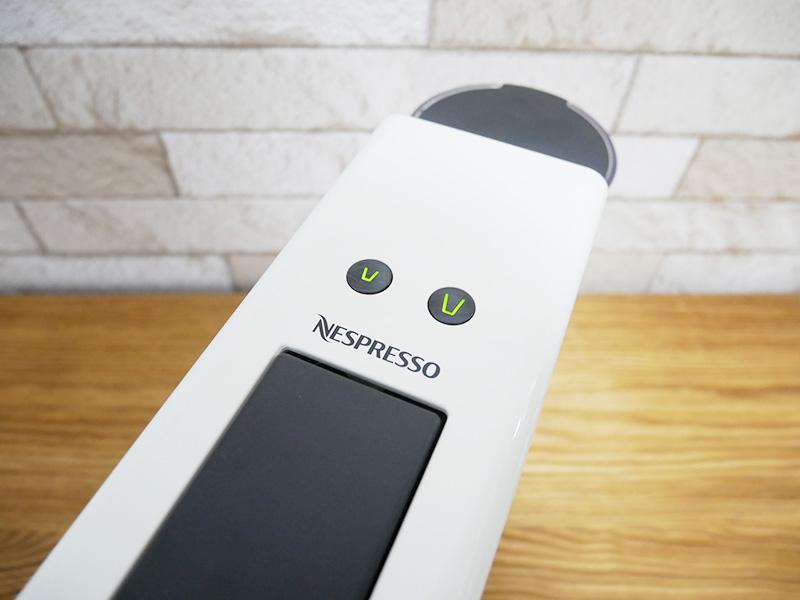 ネスプレッソ エッセンサ ミニの使い方:ボタン