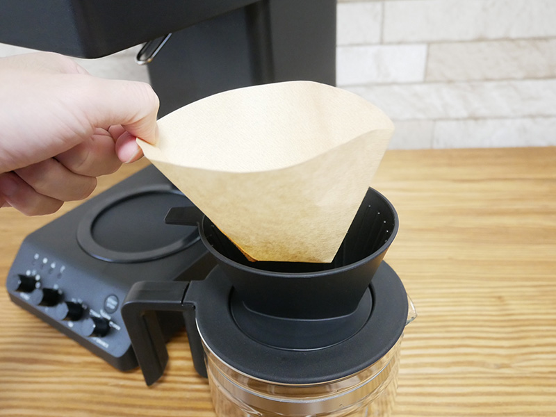 ツインバードのコーヒーメーカー「CM-D457」の使い方(淹れ方)②ペーパーフィルター
