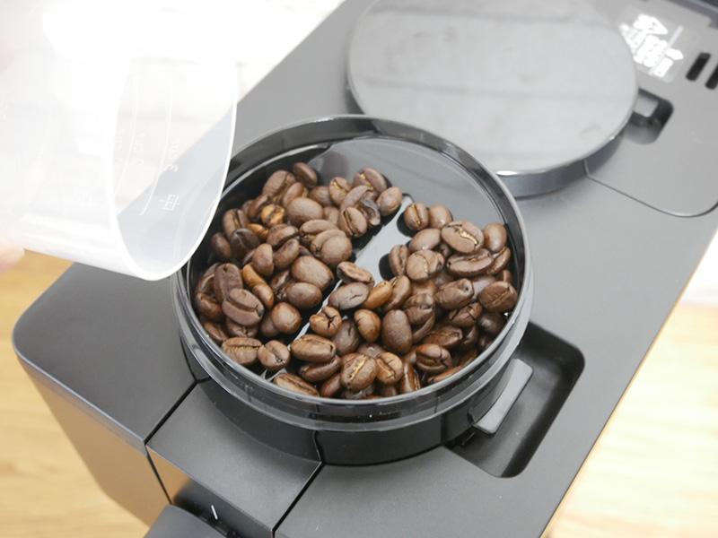 ツインバードのコーヒーメーカー「CM-D457」の使い方(淹れ方):⑤ミル