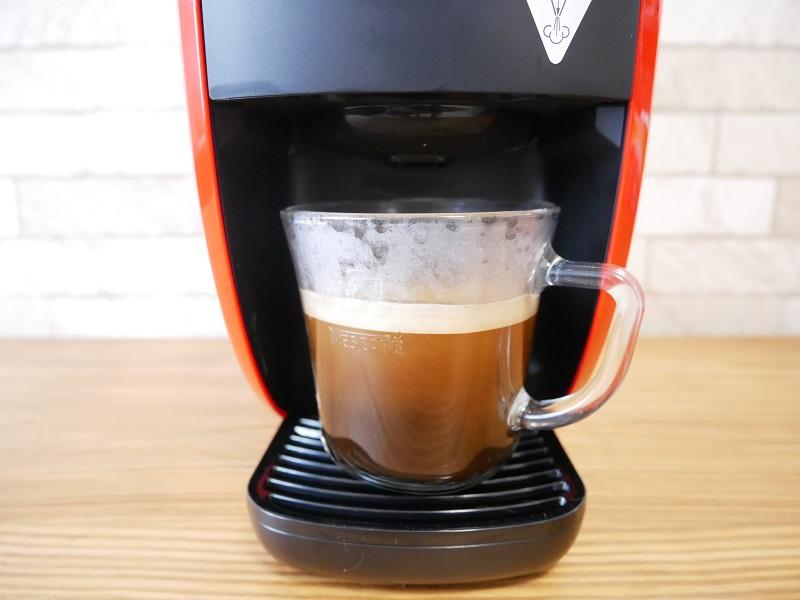 バリスタWの使い方:コーヒー完成